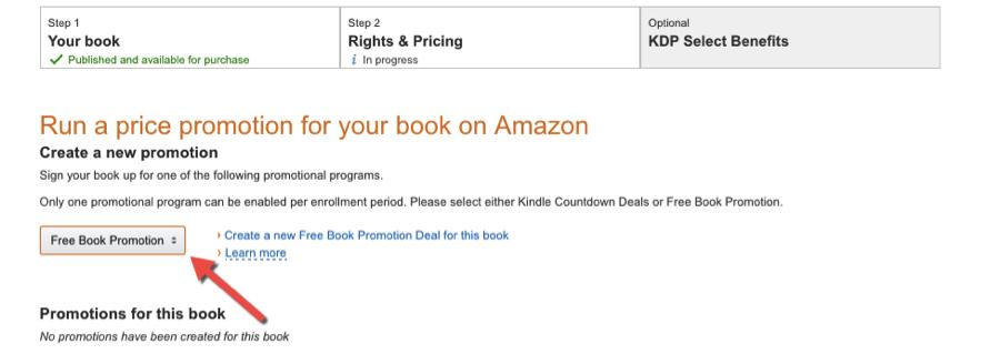 Kindle Direct Publishing Free Promotion