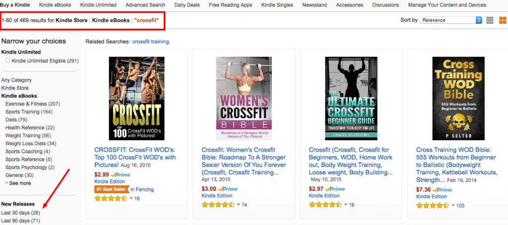 Kindle Crossfit Search Results