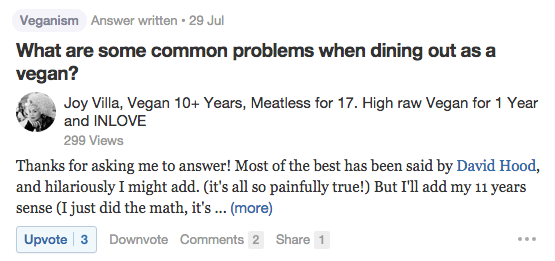 Quora Common Problems Vegans Have