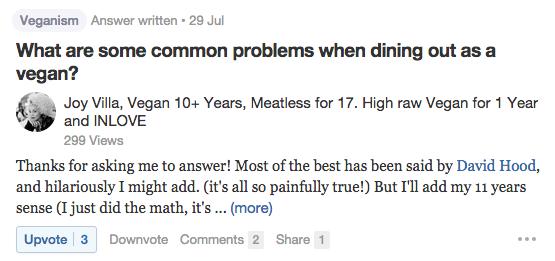 Quora Common Problems Vegans Have